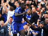 Barclays Premier League.  Chelsea v Arsenal 19/09/15: Picture Kevin Quigley/solo syndication  Kurt Zouma scores 1-0