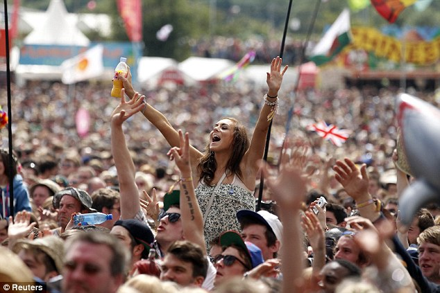 Who they are: Thousands of fans were there to cheer Jessie on during her set today - and the weather was good for once