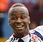 Saido Berahino celebrates his goal with Salomon Rondon during the Barclays Premier League match between Aston Villa and West Bromwich Albion played at Villa Park, Birmingham