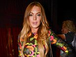 Mandatory Credit: Photo by Richard Young/REX Shutterstock (4841780dl).. Lindsay Lohan.. 'A Tribute to Christopher Nemeth' at Louis Vuitton store, London, Britain - 10 Jun 2015.. WEARING BLUMARINE SAME OUTFIT AS CATWALK MODEL 4466890g..