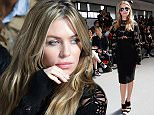 LONDON, ENGLAND - SEPTEMBER 19:  Abbey Clancy  attends the SIBLING show during London Fashion Week SS16 on September 19, 2015 in London, England.  (Photo by Tristan Fewings/Getty Images)