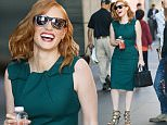 EXCLUSIVE TO INF.\nSeptember 18, 2015: Jessica Chastain looking gorgeous in green while out and about in New York City. \nMandatory Credit: PapJuice/INFphoto.com Ref: infusny-286