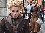 Actress Billie Piper on the Dublin Castle set of Penny Dreadful in period costume portraying her character Lily, despite her mobile phone in hand! The outdoor dining scene was filmed by Yvonne Keating's cameraman boyfriend John Conroy and Irish actress Sarah Greene was also spotted on the set which saw a fight scene between Police men and some women protesters, Dublin, Ireland - 17.09.15.\nFeaturing: Billie Piper\nWhere: Dublin, Ireland\nWhen: 17 Sep 2015\nCredit: WENN.com\n**Not available for publication in Ireland**