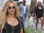Please contact X17 before any use of these exclusive photos - x17@x17agency.com Jay Z and Beyonce taking a family vacation with Blue Ivy in Monaco where they take a break from being on the yacht to explore Monaco together hours until Beyonce's new single, RunninÌ (Lose It All) is set to be released.September 16, 2015 X17online.com