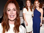 Mandatory Credit: Photo by Steve Eichner/WWD/REX Shutterstock (5087558e)\n Julianne Moore and Jessica Chastain\n Ralph Lauren show, Spring Summer 2016, New York Fashion Week, America - 17 Sep 2015\n \n