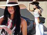 West Hollywood, CA - Vanessa Hudgens holds on to her hat on a breezy day in L.A. as she returns to her car after shopping at the Pacific Design Center in West Hollywood. The actress wore a long white flowing dress with platform heels and a large brimmed hat as she did some retail therapy in the city.\nAKM-GSI   September 17, 2015\nTo License These Photos, Please Contact :\nSteve Ginsburg\n(310) 505-8447\n(323) 423-9397\nsteve@akmgsi.com\nsales@akmgsi.com\nor\nMaria Buda\n(917) 242-1505\nmbuda@akmgsi.com\nginsburgspalyinc@gmail.com