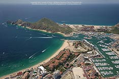 Aerial Photo Medano Beach, Marina, Ocean Cabo San Lucas - September 2012