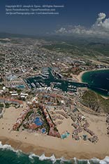 aerial view of playa grande resort and marina, cabo san lucas, los cabos, mexico