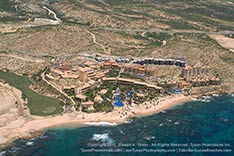 Aerial view Fiesta Americana Grand Los Cabos. Photo taken during September 2012 after rain.