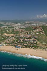 aerial view of Pueblo Bonito Sunset Beach, cabo san lucas, los cabos, mexico