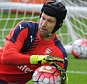 ST ALBANS, ENGLAND - SEPTEMBER 18:  Petr Cech of Arsenal during a training session at London Colney on September 18, 2015 in St Albans, England.  (Photo by Stuart MacFarlane/Arsenal FC via Getty Images)