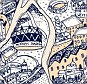 A recent addition to the map: David sketched the Olympic park, along with the stadium, velodrome and even the Orbit Tower