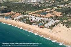 Aerial view of Riu Palace Reosrt, Medano Beach, Cabo San Lucas - 2012