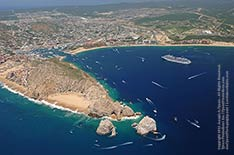 aerial view of cabo san lucas bay and harbor, los cabos, mexico - 2012