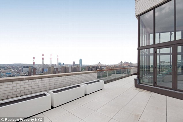 Historic: The sprawling unit, pictured, was once called the 'glittering grotto in the sky' by Andy Warhol