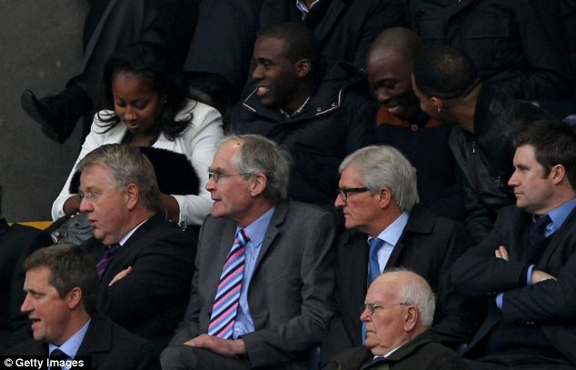 After stepping out onto the pitch Muamba watched the match from the stand with his fiance