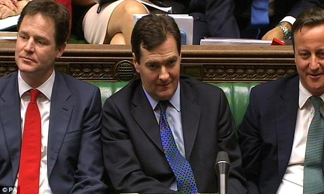 Unraveling: Within minutes it became clear Mr Osborne's budget was simply an exercise in cynical public relations