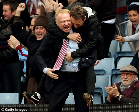 Jumping for joy: McLeish has been given the green light to resume spending