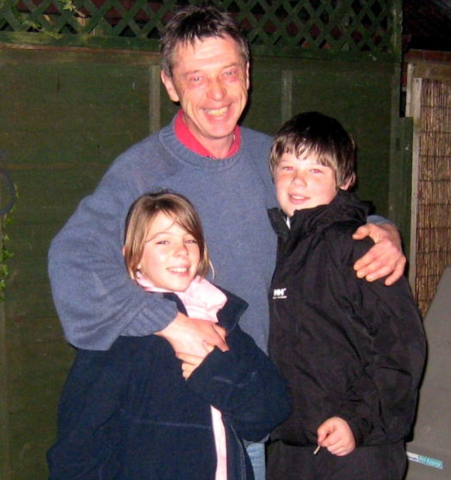 Reunited: Andy with his children Dolly and Sonny