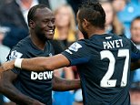 Sept 19th 2015 - Manchester, UK - MAN CITY V WEST HAM - West Ham Moses scores 0-1 PIcture by Ian Hodgson/Daily Mail