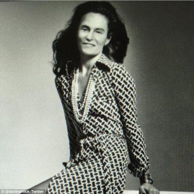 Insensitive snap: Fans lashed out when designer Diane von Furstenberg posted this Instagram photo of Bruce Jenner's face edited onto her body
