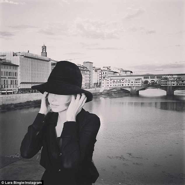 'When in Firenze': Meanwhile, the stylish celeb looked chic as ever as she relaxed in the historic city of Florence this week