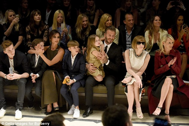 Star power: During the Beckhams' time in LA, they attended several events, including the prestigious Burberry London in Los Angeles event on Thursday