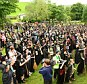 Four hundred and eighty-two people all donned a black pointed hat, black cloak and a broom to qualify for the record set on Gallows Hill in Lancashire