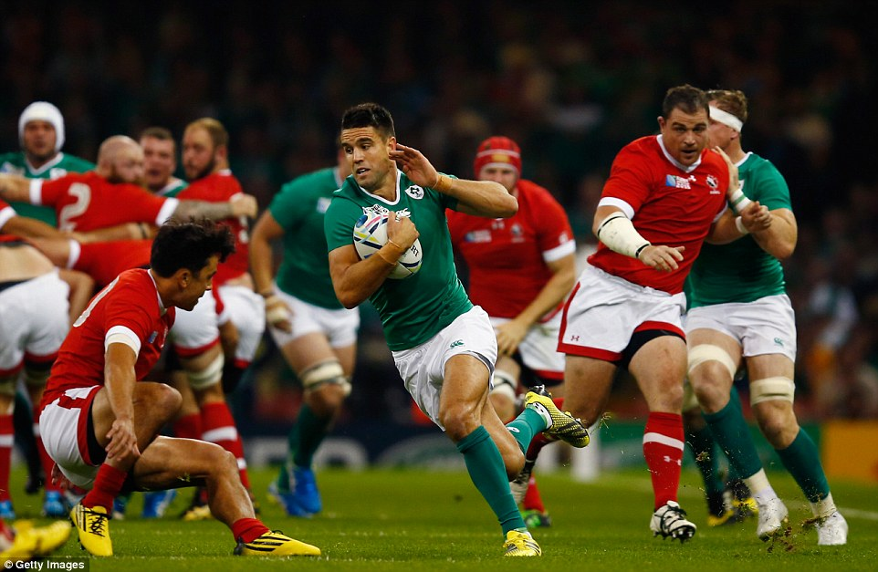 Conor Murray of Ireland makes a break for his team as Joe Schmidt's men romp to a comfortable victory in Wales