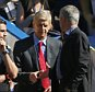 "Football - Chelsea v Arsenal - Barclays Premier League - Stamford Bridge - 19/9/15  Chelsea manager Jose Mourinho and Arsenal manager Arsene Wenger shake hands before the match  Action Images via Reuters / John Sibley  Livepic  EDITORIAL USE ONLY. No use with unauthorized audio, video, data, fixture lists, club/league logos or ""live"" services. Online in-match use limited to 45 images, no video emulation. No use in betting, games or single club/league/player publications.  Please contact your account representative for further details."