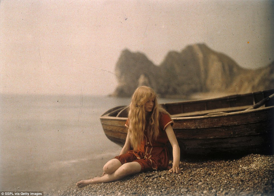 Scholars have been puzzled over 'Christina', the ethereal strawberry blonde who was captured by photographer Mervyn O'Gorman in a series of dreamlike photos taken in Lulworth Cove, Dorset, in 1913 (pictured), and then disappeared into history. Her full name is now revealed to have been Christina Elizabeth Frances Bevan, and she died in 1981 when she was 84, with no listed husband or children