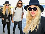 Los Angeles, CA - Kesha arrives for a Friday flight out of Los Angeles with boyfriend Brad Ashenfelter at LAX. Kesha goes hand in hand with her man into the airport after signing for a few fans along the way.\nAKM-GSI  September 18, 2015\nTo License These Photos, Please Contact :\nSteve Ginsburg\n(310) 505-8447\n(323) 423-9397\nsteve@akmgsi.com\nsales@akmgsi.com\nor\nMaria Buda\n(917) 242-1505\nmbuda@akmgsi.com\nginsburgspalyinc@gmail.com
