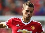 MANCHESTER, ENGLAND - AUGUST 22: Morgan Schneiderlin of Manchester United in action during the Barclays Premier League match between Manchester United and Newcastle United at Old Trafford on August 22, 2015 in Manchester, England.  (Photo by Clive Brunskill/Getty Images)