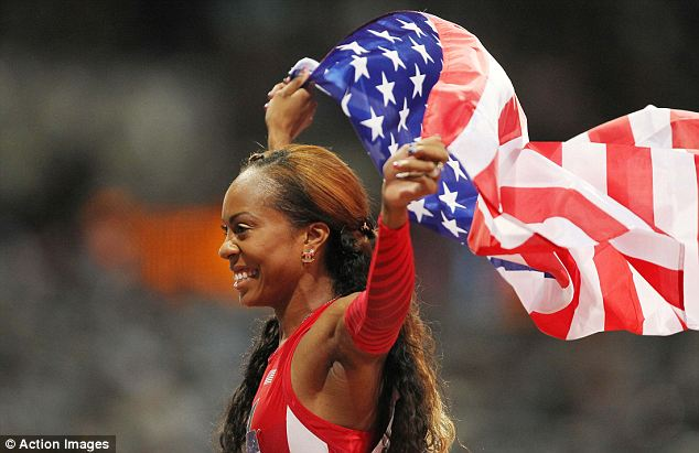 Patriotic: Both the gold and bronze positions were won by Americans