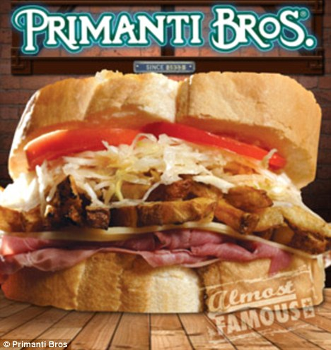 Mammoth: The flight crew flew to Pittsburgh for Primanti Bros' signature fry-and-slaw-filled sandwiches