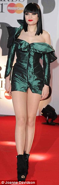 Dress code: Singers Eliza Doolittle, Jessie J and Alesha Dixon kept it short and sweet in micro minidresses