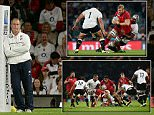 Rugby World Cup 2015, England v Fiji, Opening game. Twickenham. LOndon.\n Picture Andy Hooper Daily Mail/ Solo Syndication\nStuart Lancaster watches the warm up
