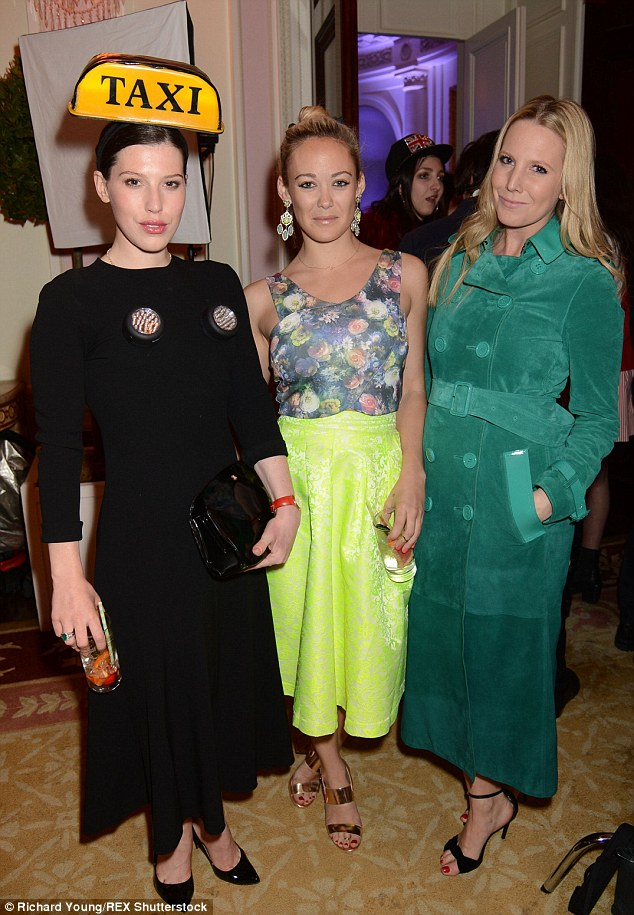 Lily Lewis and Alice Naylor-Leyland joined in the fun at the Tatler Best of British Party