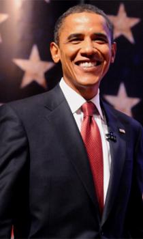 Then-Senator Barack Obama at the ServiceNation Presidential Candidates Forum, held on Sept. 11, 2008 (Image credit: Eileen Barroso/Columbia University)