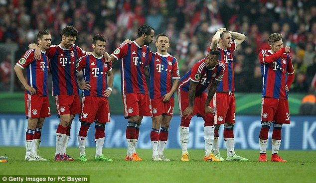 None of Bayern's players managed to score in the dramatic penalty shootout on Tuesday