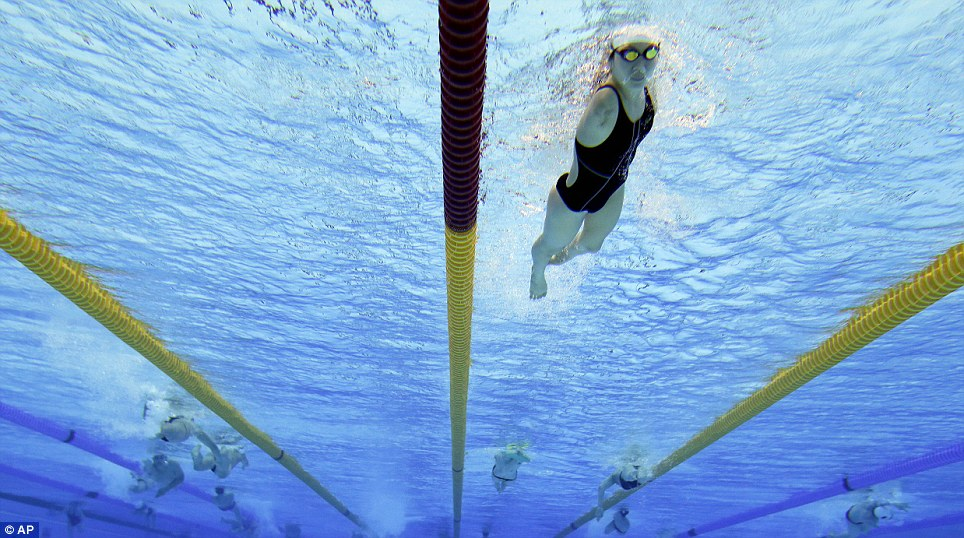 Gearing up: Paralympic swimmers train at the Aquatic Centre