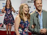 BEVERLY HILLS, CA - SEPTEMBER 19:  Actress Bindi Irwin (L) and professional dancer Derek Hough onstage at the American Humane Association's 5th Annual Hero Dog Awards 2015 at The Beverly Hilton Hotel on September 19, 2015 in Beverly Hills, California.  (Photo by Araya Diaz/Getty Images for American Humane Association)