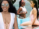 Picture Shows: Angela Simmons  September 18, 2015\n \n Socialite Angela Simmons is spotted on the beach with some friends in Miami, Florida. Later Angela headed to a pool to cool off. \n \n Non Exclusive\n UK RIGHTS ONLY\n \n Pictures by : FameFlynet UK © 2015\n Tel : +44 (0)20 3551 5049\n Email : info@fameflynet.uk.com