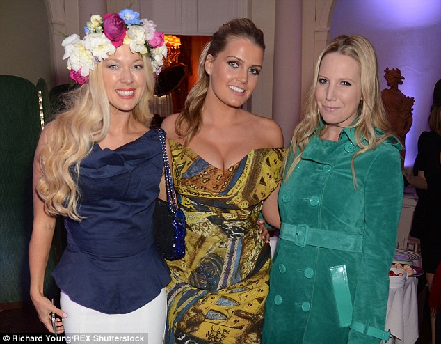 Leading the glamour was Lady Kitty Spencer, centre, the niece of the late Princess Diana, who joined the likes of fashion blogger Alice Naylor-Leyland, right