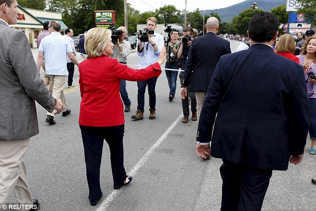 Low: The moment, in New Hampshire, was said by commentators to be a new low in her press relationship
