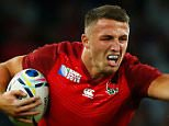 LONDON, ENGLAND - SEPTEMBER 18:  Sam Burgess of England hands off Tuapati Talemaitoga of Fiji during the 2015 Rugby World Cup Pool A match between England and Fiji at Twickenham Stadium on September 18, 2015 in London, United Kingdom.  (Photo by Shaun Botterill/Getty Images)