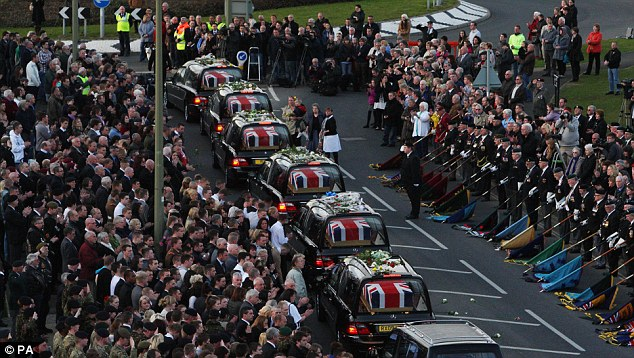 Contrast: The dignified repatriation of the six servicemen killed by a roadside bomb in Afghanistan