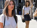 Emily Ratajkowski spotted wearing a blue skirt while out and about in the East Village neighborhood of NYC\n\nPictured: Emily Ratajkowski\nRef: SPL1130048  180915  \nPicture by: J. Webber / Splash News\n\nSplash News and Pictures\nLos Angeles: 310-821-2666\nNew York: 212-619-2666\nLondon: 870-934-2666\nphotodesk@splashnews.com\n
