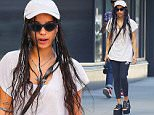 Zoe Kravitz spotted wearing wedge heels while out and about in the East Village neighborhood of NYC\n\nPictured: Zoe Kravitz\nRef: SPL1130765  180915  \nPicture by: J. Webber / Splash News\n\nSplash News and Pictures\nLos Angeles: 310-821-2666\nNew York: 212-619-2666\nLondon: 870-934-2666\nphotodesk@splashnews.com\n