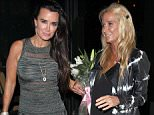 Picture Shows: Kyle Richards, Kim Richards  September 20, 2015    Sisters Kim and Kyle Richards dine out at Ocean Prime restaurant in Beverly Hills, California. Kim was seen carrying a bouquet of white lilies.    Non-Exclusive  UK RIGHTS ONLY    Pictures by : FameFlynet UK © 2015  Tel : +44 (0)20 3551 5049  Email : info@fameflynet.uk.com